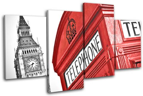 London Telephone Box Landmarks - 13-1267(00B)-MP04-LO